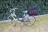 Marcus´ Weidenhandel Hundefahrradkorb für Gepäckträger aus Weide mit Metallgitter und Kissen Schwarz XL oder XXL Gepäckträgerkorb Weidenkorb Hundekorb Tierkorb (XXL mit Kissen)