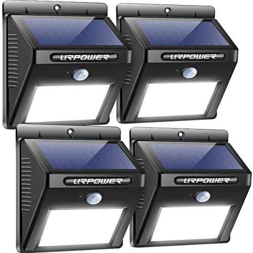 URPOWER Solar Lights Wireless Waterproof Motion Sensor Outdoor Light for Patio, Deck, Yard, Garden...