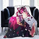 hgdfhfgd Mantas de Franela de Moda, Mantas japonesas Kimetsu No Yaiba Manga Tanjiro Kamado, Manta para papá Preescolar