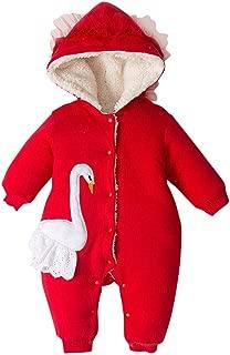Baby Hooded Romper Snowsuit Infant Onesies Jumpsuit Fall Winter Cute Cartoon Outwear Outfits Zip Jacket Hoodie Coat