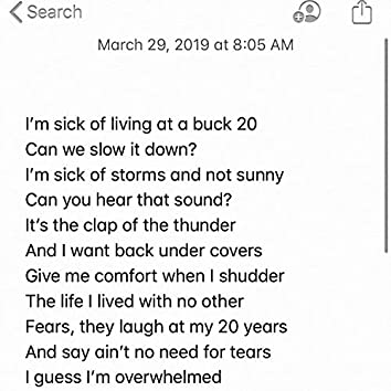 3/29/19 (Unfinished Thought: Be Careful)