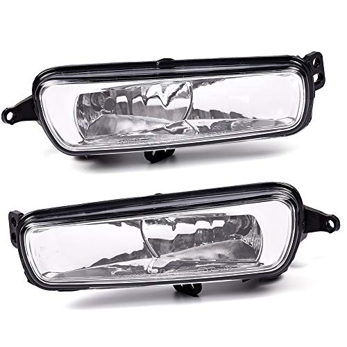 Replacement For Ford Focus 2015 2016 2017 2018 Clear Lens Front Bumper Fog Light Driving Fog Lamp Assembly With H8 Halogen Bulbs F1EZ15200A F1EZ15201A