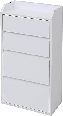 JKプラン 薄型カウンター 下収納 カウンター 有効 活用 チェスト 幅 40 ホワイト YHK-0204-WH