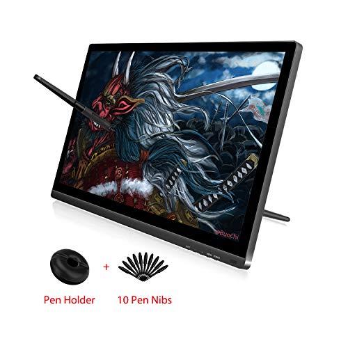 HUION KAMVAS GT-191 V2 HD IPS Zeichenstiftmonitor 8192 Drucksensitivitätmit batterielosem Stift Grafiktablett mit Monitor Blendschutzglas-Bildschirm