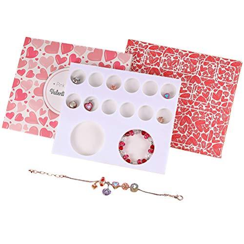 WoRamy Pulsera de perlas de cristal, pulsera de perlas de cristal, regalo sorpresa, regalo de San Valentín, caja de regalo hecha a mano para mujer y novia.