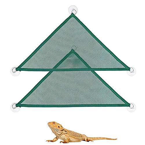 ASOCEA - Juego de 2 hamacas para reptiles con diseño de dragón barbudo, para colgar en la cama, juguete de terrario, accesorios para decoración de geckos, reptiles serpientes y otros animales pequeños