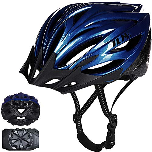 ILM Youth Bike Bicycle Helmet Quick Release Strap Lightweight Casco Suits Biking Cycling MTB CPSC Certified (Blue, Large/X-Large)