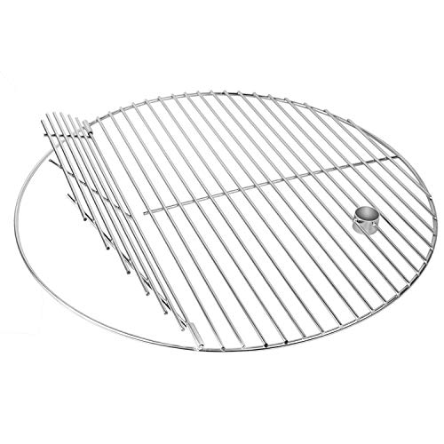 VIPITH BBQ Stainless Steel 19.5 Inches Round Cooking Grate, Cooking Grid Fit Replacement for Akorn Kamado Ceramic Grill and Other 20 inch Grill Grate