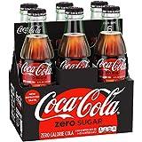 Coca-Cola Zero Sugar Glass Bottles, 8 fl oz, 6 Pack
