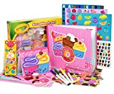 Crayola Scrapbook Activity Craft Kit, Mess Free Journal Set for Kids, Drawing Art Supplies Included Scrapbook, Pattern Sheets, Cut Outs, Gem Stickers, Sequins, Crayola Washable Markers, Tape and