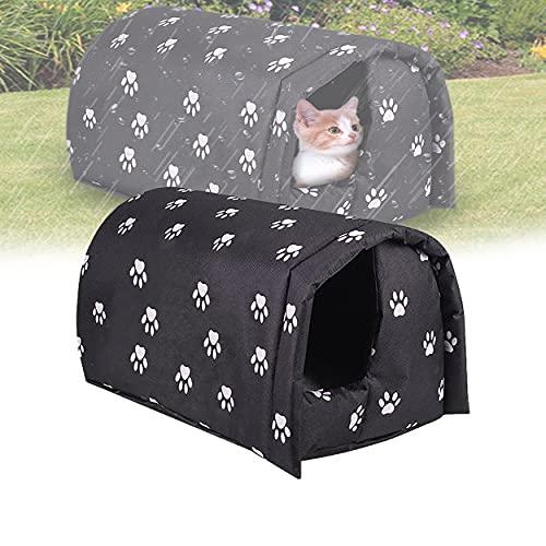 Katzenhaus Für Draußen Winterfest, Katzenhaus Outdoor Winterfest Wasserdicht Und Warm, Faltbares Katzenbett Hundehöhle, Katzenhöhle Für Katzen Mit Dickem Schwammfutter (M 40×35×25cm)