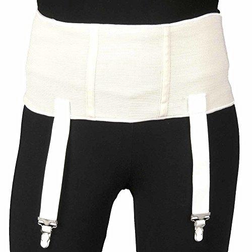 Truform Truform Plus Size Garter Belt, White, X-Large
