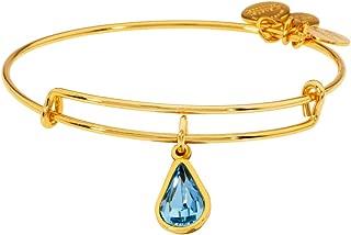 Alex And Ani Rose Crystal March Birthstone Gold Bracelet A18EB42SG