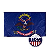 Vispronet - North Dakota State Flag - 3ft x 5ft Knitted Polyester, State Flag Collection, Made in The USA (Flag Only)