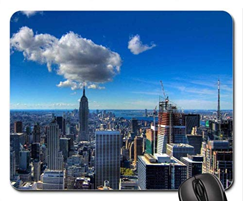 BGLKCS Fabulous View of New York City HDR Mouse Pad, Mousepad (Skyscrapers Mouse Pad)