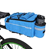 Lixada Insulated Trunk Cooler Bag for Warm or Cold Items,Bicycle Rear Rack Storage Luggage,Reflective MTB Bike Pannier Bag (Blue)