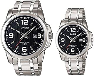 Casio His and Her Couple Analog, Dress Watch - MTP/LTP-1314D-1AV