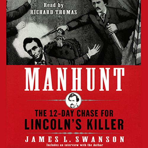 Manhunt audiobook cover art