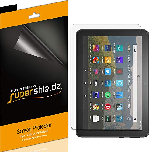 (3 Pack) Supershieldz for All-New Fire HD 8 and Fire HD 8 Plus Tablet 8-inch (10th Generation - 2020 Release) Screen Protector, High Definition Clear Shield (PET)