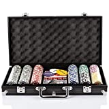 Grandma Shark Poker Chips with Aluminum Case Blackjack Gambing with Carrying Case And Casi...