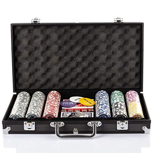 Grandma Shark Poker Chips with Aluminum Case Blackjack Gambing with Carrying Case And Casino Chlps 2...
