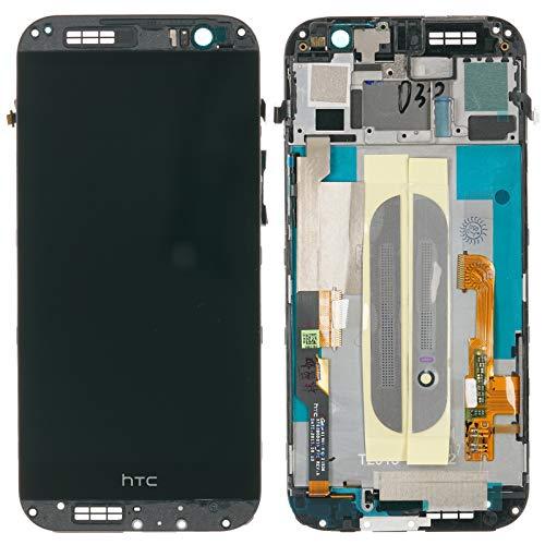 HTC ONE M8 Display LCD Touchscreen Glas Gehäuse Rahmen, schwarz Titan - 80H01767-28