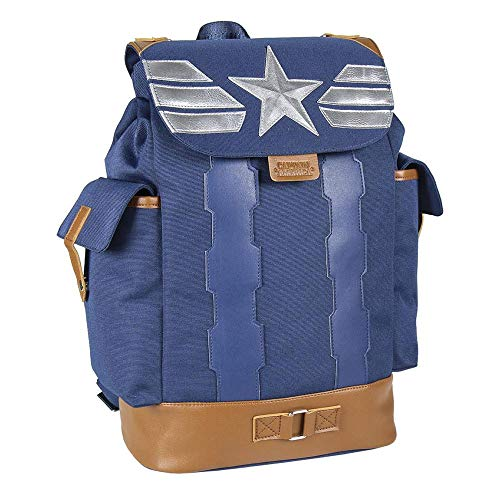 Cerdá Unisex Kid's Mochila Viaje Capitan Avengers Captain America Casual Travel Backpack,...