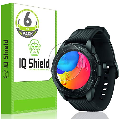 IQ Shield Screen Protector Compatible with Garmin Vivoactive 3 Music (6-Pack)(Full Coverage) Anti-Bubble Clear Film