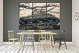 JKHKJ Camiseta sin Mangas con Estampado Panzer Arte Pared Pintura Tríptico Cuadro sobre Lienzo 3 Piezas Impresión en Lienzo Decoración del Hogar Regalo Total 150X70CM