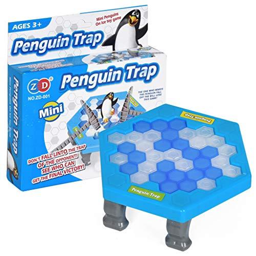 Aujelly Pinguin Trap Klopfbank, Save The Penguin, Interaktives Spiel Hammerspiel Spielzeug, Eisblock-Breaking-Spiel ,Klopf Hämmerspielzeug für Kinder- Baby Spielzeug, Familienparty-Spiel