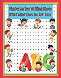 Kindergarten Writing Paper with Dotted Lines for ABC Kids: Blank Dot Grid Composition Notebook with Academic Monthly Calendar from July 2019-July 2020 ... Practice Handwriting Workbook for Girls