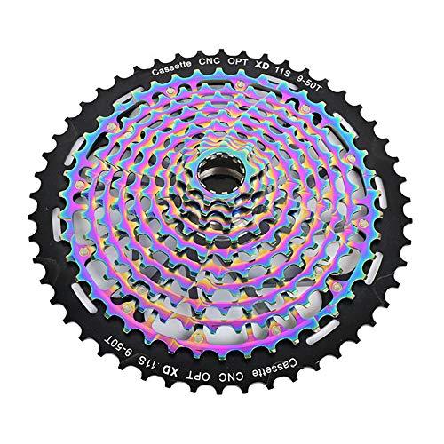 CNC 11 / repuestos 12S 9-50T bicicletas cassette Peso ligero del volante colorido del volante de bicicletas Caja de cambios para MTB de la bicicleta (11S)