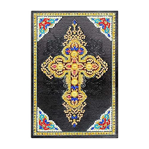 Cuaderno Diario 50 páginas Diamante Pintura Cuaderno Cruz Cruz DIY Especial Bordado Bordado Cross Stitch A5 Diario Libro Craft Composición Portátil Journal Diario de Cuero (Color : Burgundy)