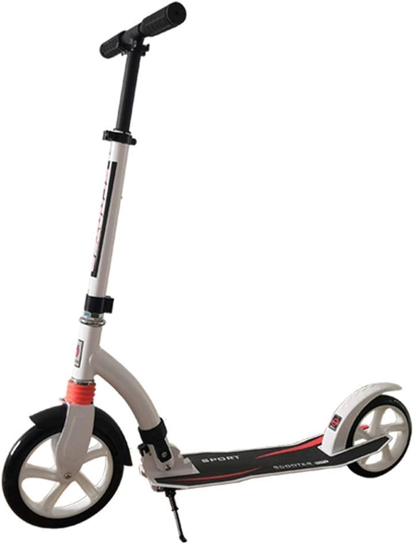tienda de pescado para la venta Scooter infantil de tres ruedas. Scooter, Scooter, Scooter, dos ruedas grandes de aleación de aluminio plegable, Niño grande, joven, amortiguador de choque para trabajar en nombre de un scooter de dos ruedas Diseño ple  a la venta