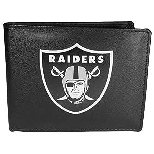 NFL Siskiyou Sports Mens Las Vegas Raiders Bi-fold Wallet Large Logo One Size Black by Siskiyou Gifts Co, Inc.