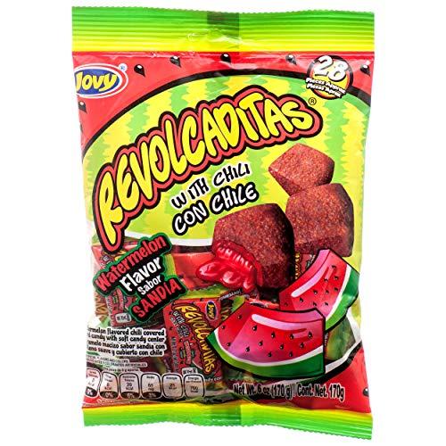Jovy Revolcaditas Sandia Watermelon Flavor Mexican Candy (1 x 6 oz. Bag)