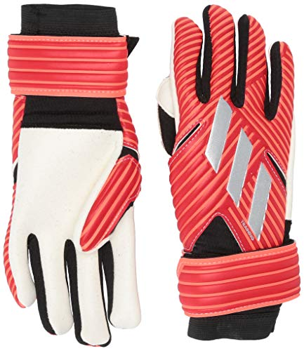 adidas Adult Nemeziz Lite Soccer Goalkeeper Gloves Active Red/Silver Metallic/Solar Red 12