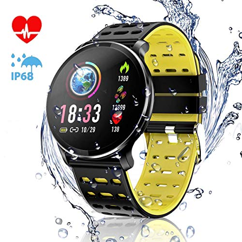 CanMixs Smart Watch with Heart Rate Monitor IP67 Waterproof Sports Fitness Tracker Watches for Men Women Kids Gifts CM10 Smartwatch Compatible for Andriod & iOS