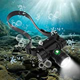 WindFire 2000 Lumens CREE L2 Dive Headlamp Underwater Headlamp for Diving Swimming Submarine Head Torch Scuba Safety...