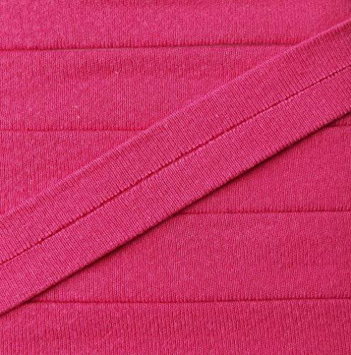 3 m Jersey Einfassband Trikot elastisch 20 mm vorgefalzt pink