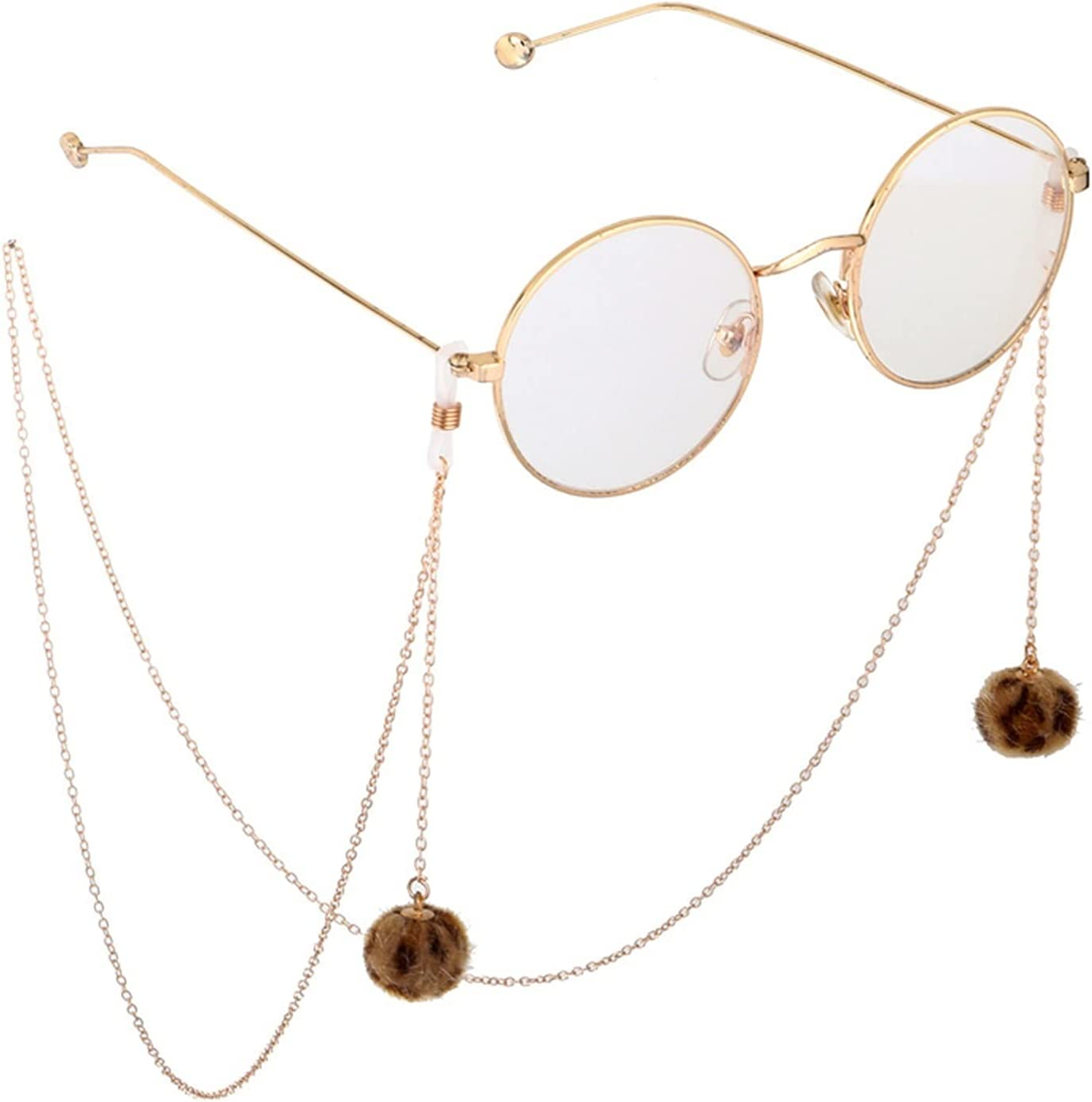 HYMD Eyeglass Chain Fashion Ladies Plush Pendant 85 cm Sunglasses Eyeglass Chain Accessories Anti-Lost Chain (Color : 20210656 1)