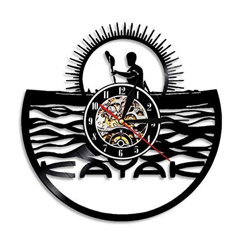 SKYTY Reloj De Pared De Vinilo Disco De Pared De Vinilo para Kayak Decoración Moderna Y Vintage-sin luz led