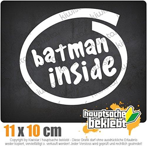 batman inside 12 x 11 cm IN 15 FARBEN - Neon + Chrom! Sticker Aufkleber