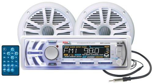 BOSS Audio Systems MCK1440W.64 Marine Package Includes MR1440U Single-Din Marine...
