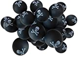 CherryPic Junction Jolly Roger's Balls - Custom Skull and Crossbones Pirate Beer Pong - Pack of 20 Balls