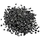 Nupuyai - Piedras preciosas para decoración (460 g), Obsidiana (grande), Negro