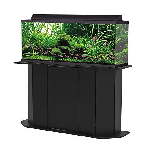Aquatic Fundamentals 55/38 Gallon Aquarium Stand with Front Access Door, Black, Made in USA