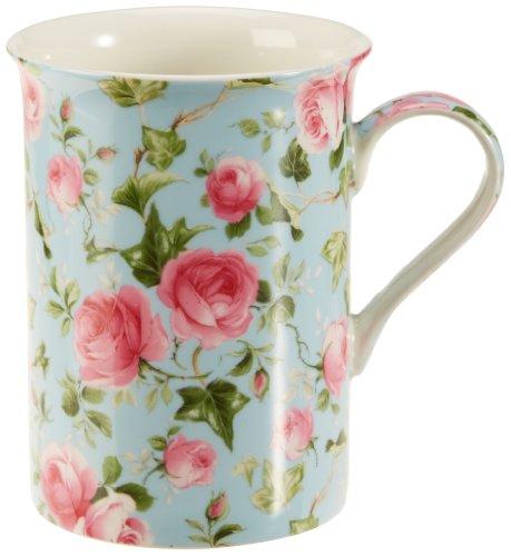 Maxwell & Williams S568471 Royal Old England Becher, Kaffeebecher, Tasse, Motiv: Herbstrose, in Geschenkbox, Porzellan