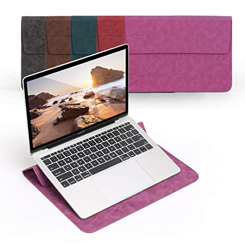 Omnpak 13 Inch Laptop Sleeve with Stand Case Compatible with 2020 2019 2018 MacBook Air 13 A2337 A2338 A2179 A1932 M1/MacBook Pro 13 2016-2020/iPad Pro 12.9 2018 2020/Dell XPS 13/Surface Pro X 34567