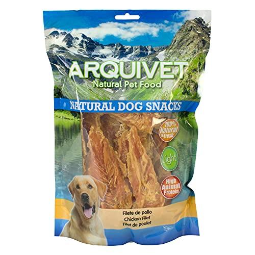 Arquivet Filete de pollo - Snacks naturales para perros - Natural Dog Snacks - Chuches para perros - Golosinas naturales para mascotas - Mejores snacks para perro - 1kg